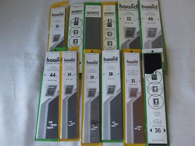 Hawid Stamp Mount Strips 12 Packets Opened & Part Used, Various Sizes