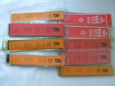 Prinz Stamp Mount Strips 9 Packets Opened & Part Used, Various Sizes