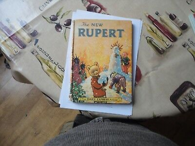 Vintage Original 1955 Rupert Bear Annual, Price Unclipped 4/6