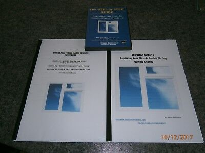 Business Opp manuals and instructional DVD replacing double glazed units.