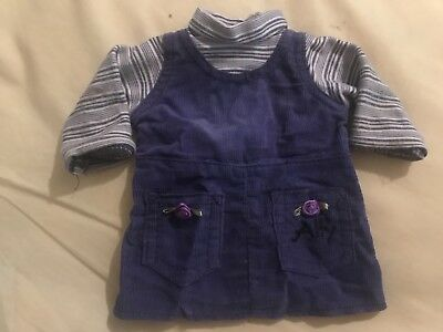 "Amazing Ally 18"" Interactive Talking Doll Purple Corduroy Dress Clothing"