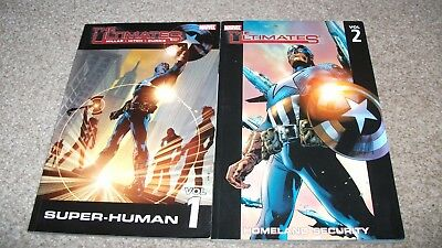 The Ultimates Vols 1 and 2  Trade Paper Backs, good condition