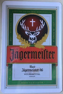 Jagermeister Tin Metal Sign  MAN CAVE Brand New AU SELLER 30 by 20 cm