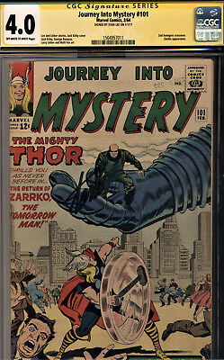 Journey Into Mystery #101 Cgc 4.0 Ss By Stan Lee! Avengers X-Over-Kirby & Ditko!