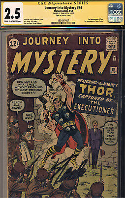 Journey Into Mystery #84 Cgc 2.5 Ss By Stan Lee! 2Nd Thor-1St Jane Foster-Kirby
