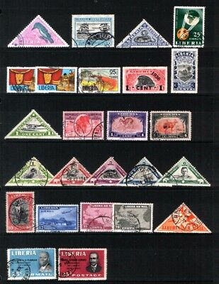 LIBERIA  :  Nice selection of earlies incl. Airmails & better values.