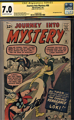 Journey Into Mystery #88 Cgc 7.0 Ss By Stan Lee! 2Nd App Of Loki-Kirby & Ditko!
