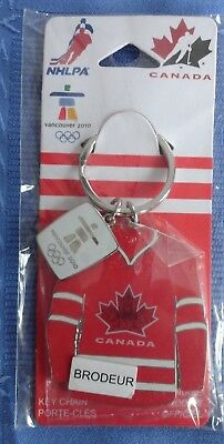 Vancouver 2010 Winter Olympic Game Brodeur Jersey Key Chain Hockey Canada