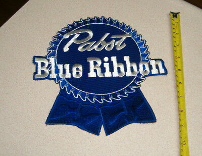 """LARGE PABST BLUE RIBBON CLOTH PATCH. 9"""" x 9"""""""