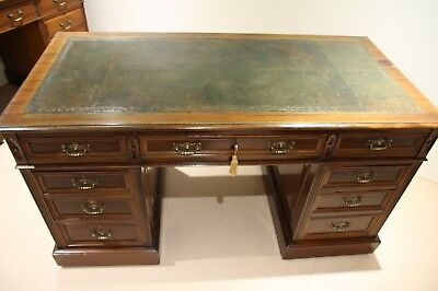 Edwardian Solid Walnut Antique Twin Pedestal Desk c1910 *Exceptional Quality