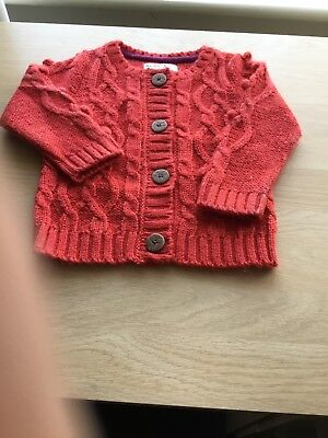 M&S Baby  Girl's Red Cardigan Size 12-18 months