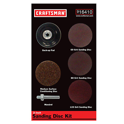 Craftsman 2 Inch Sanding Disc Kit for Right Angle or Die Grinders