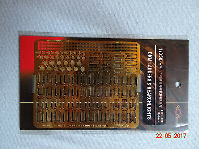 Ätzteile/etching parts DKM ladders & search lights WWII - 1/350 Flyhawk FH350027