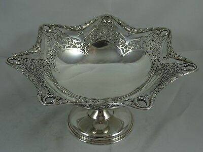 STUNNING solid silver FRUIT COMPORT, 1912, 359gm