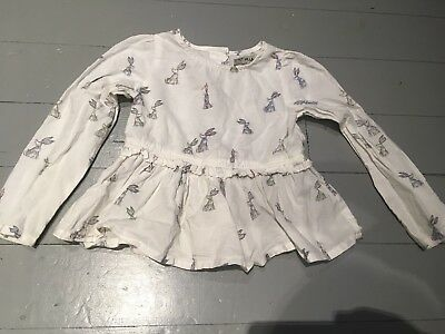 Next Girls Top, Bunny Print, Age 2-3, Exc Cond
