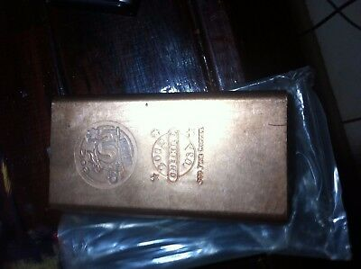 1Kg Copper Bullion Bar 99.99% Purity Pure Copper