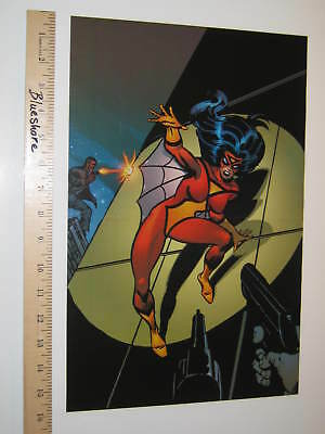 Avengers Spider-woman by Joe Sinnott Marvel Comic Poster Spider-man Green 1