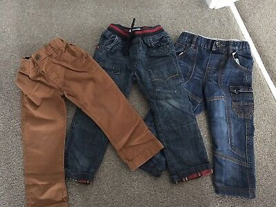 3 Pairs Of Boys Pants 2-4 Years Next And F&F