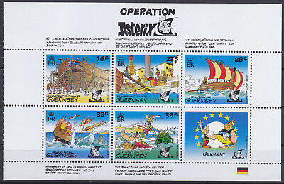 Guernsey 1992 Operation Asterix Booklet Pane (Germany) UM SG584a Cat £3.50