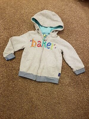 Ted Baker baby boys zip up fleece jacket aged 12-18 months