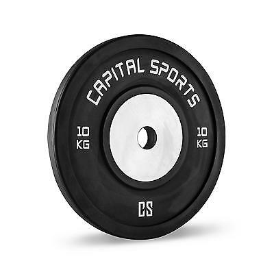 Capital Sports Set 2 Discos De Pesas 10 Kilos Fitness Musculacion Gimnasio Gym