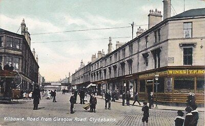 Kilbowie Road from Glasgow Road, Clydebank