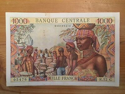 FRENCH EQUATORIAL AFRICA -  1000  Fr CONGO  (girl - market)