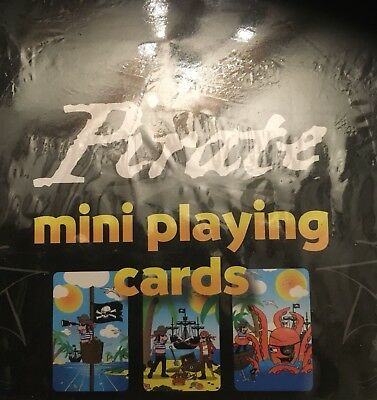 Pirate Mini Playing Cards ** Job Lot Of  25 Packs supplied **