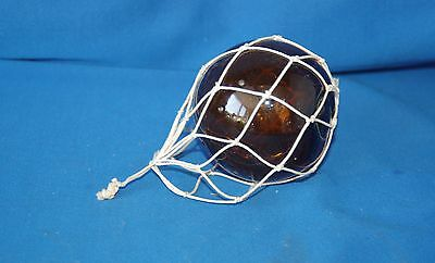 """Vintage amber Glass Gypsy 2.5"""" (6.5cm)  Ball Fishing Float with String to hang"""