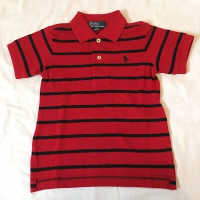 Ralph lauren Baby Boys Polo Size 12-18 Months Red  Short Sleeve New Without Tags