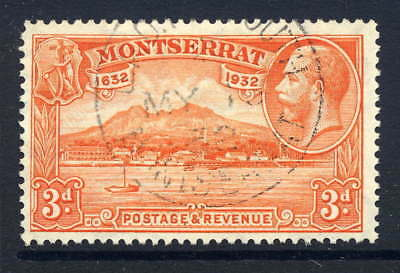 Montserrat 1932 Settlement 3D Very Fine Used With Madame Joseph Forged Cds Sg 89