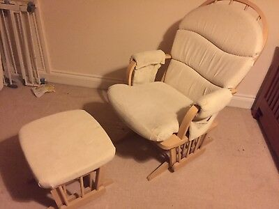 Dutailier Glider Chair and Stool - Natural