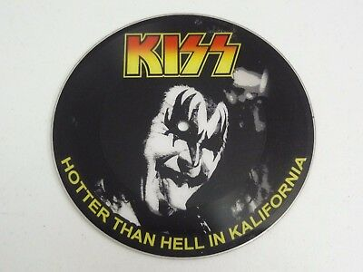 """KISS Hotter Than Hell In Kalifornia 45 7"""" Picture Disc Limited Edition RARE"""