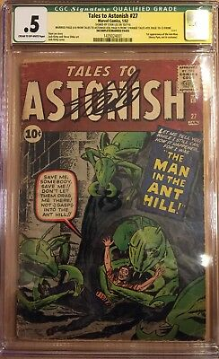 Tales To Astonish 27 1962 1st Ant Man - Signed Stan Lee CGC Signature Series .5