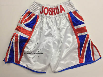 Rare Collectors,Limited edition Anthony joshua signed Shorts