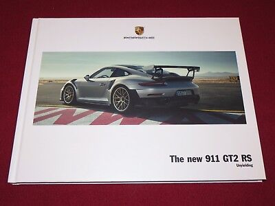 2018 Porsche 911 Gt2 Rs Us Hard Cover Original Brochure & Poster Turbo Gt3 991.2