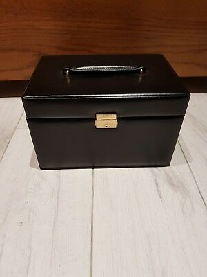 Brown Leather Jewellery Box with key