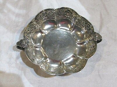 Sanborns Mexico Sterling Silver Double Handled Bowl C.1910 108.8 g No Mono