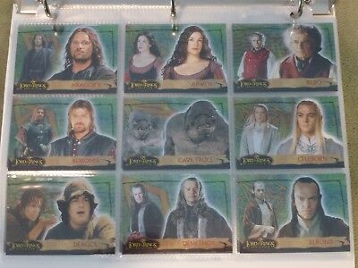 Lord of the Rings Evolution TCG Complete Green Foil Base Set of 72 Cards