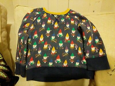 Little Bird Mothercare Christmas Gnome Vintage Retro Style Jumper Sweatshirt...