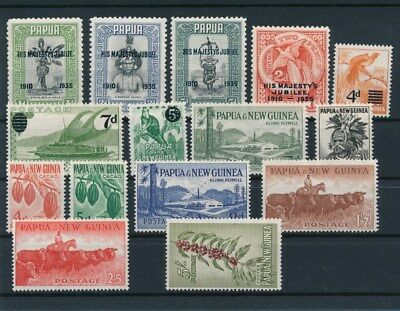 [85500] Papua & New Guinea good lot Very Fine MNH/MH stamps