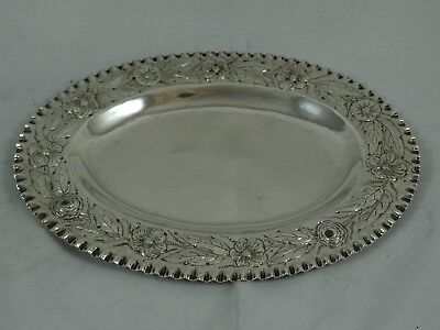 QUALITY, VICTORIAN silver TRINKET TRAY, 1878, 96gm