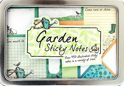 Fun Sticky Notes Set Cute Post Its Garden Flowers Colorful Office School Gift