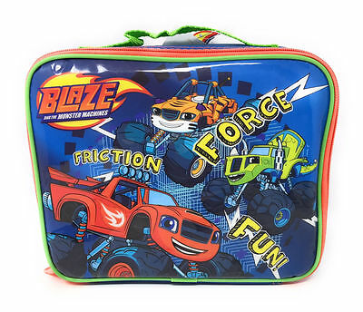 NWT Blaze and the Monster Machines Blue Soft Lunch Box Bag Tote
