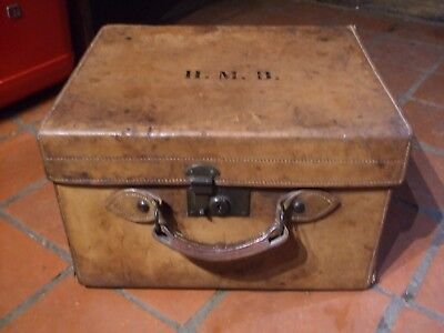 Victorian Leather Top Hat Case   Lovely Colour /patina  Fisher 188 Strand London