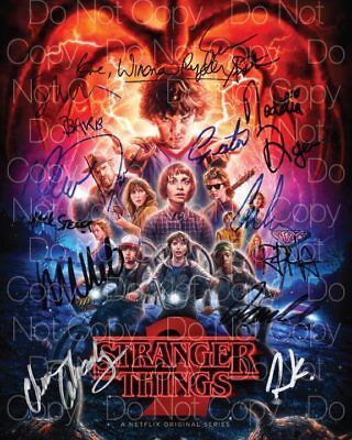 Stranger Things signed Cast 8X10 photo picture poster autograph RP 3
