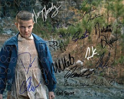 Stranger Things signed Cast 8X10 photo picture poster autograph RP 2