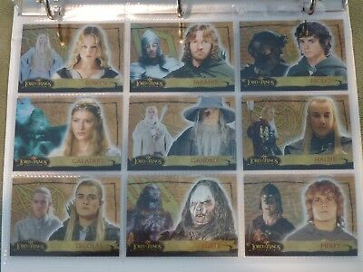 Lord of the Rings Evolution Series Individual Bronze/Gold Foil Cards Your Choice