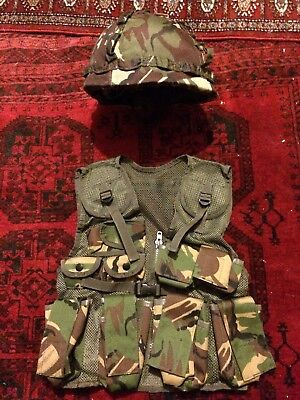 Kids Camouflage Army Helmet And Assault Vest
