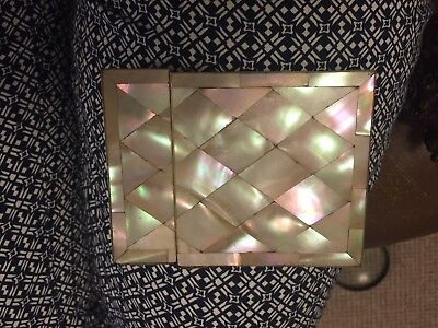 Antique Mother Of Pearl Calling Card Case